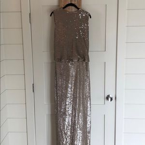 Rachel Zoe Gold Sequin Dress with cowl back